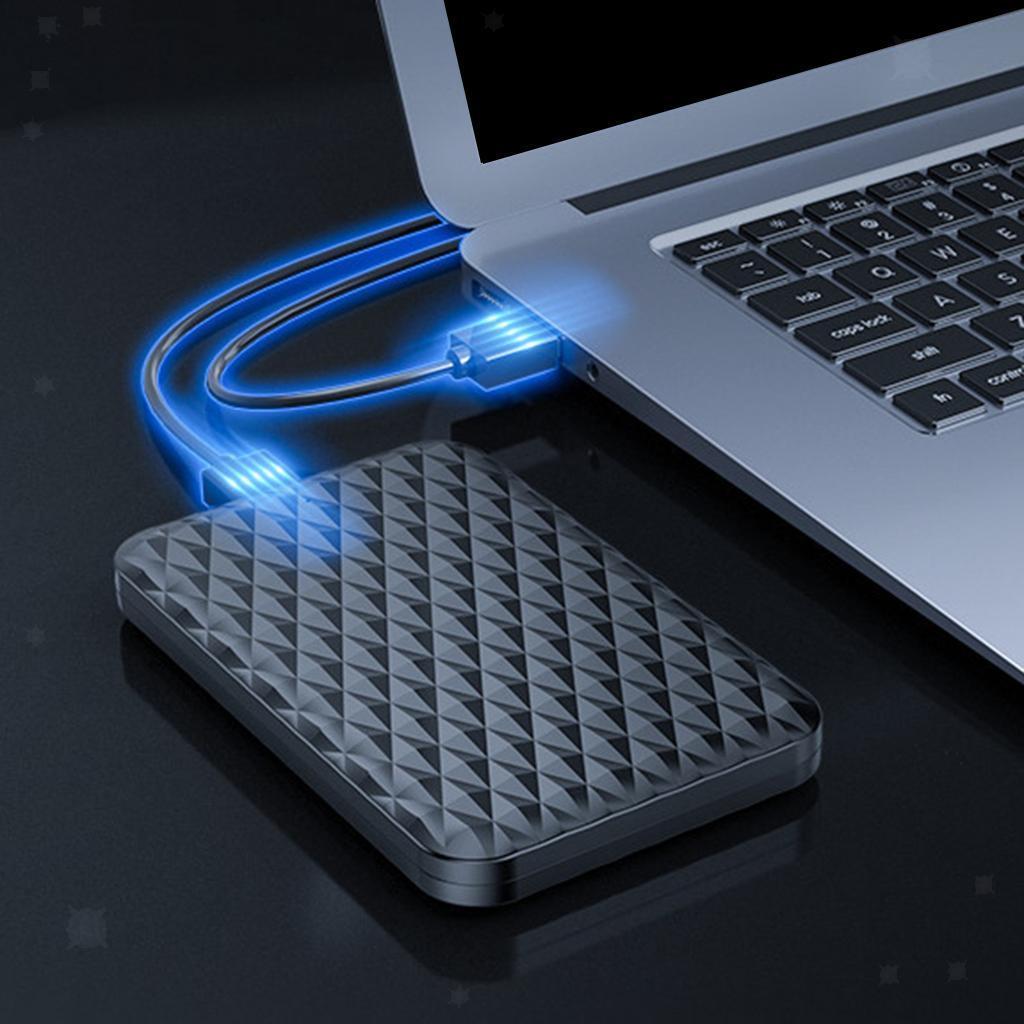 ABS-2-5-pollici-SATA-a-USB-3-0-Hard-Drive-Enclosure-Caso-per-Laoptop-HDD-SSD miniatura 13