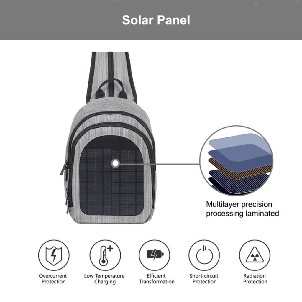 miniatura 9 - Con Cargador Solar mochila 2L para teléfonos inteligentes puerto de carga USB