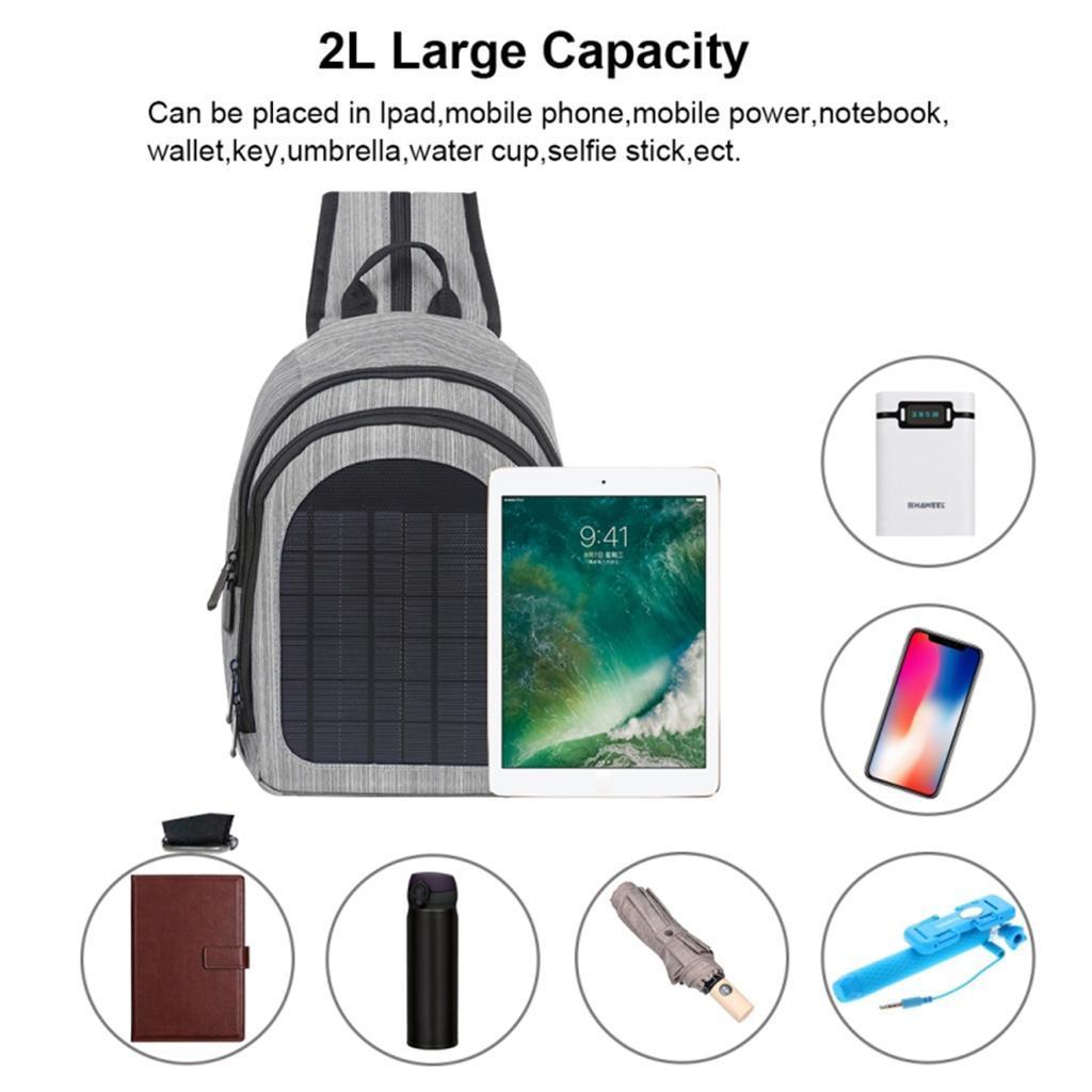 miniatura 5 - Con Cargador Solar mochila 2L para teléfonos inteligentes puerto de carga USB
