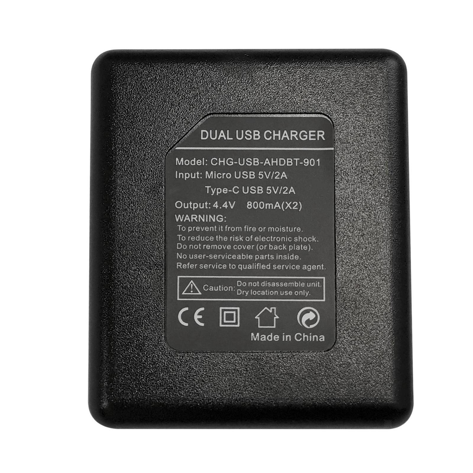 thumbnail 15 - Replace Batteries 1720mAh USB Quick Charger with Cord for   Hero 9 -Black