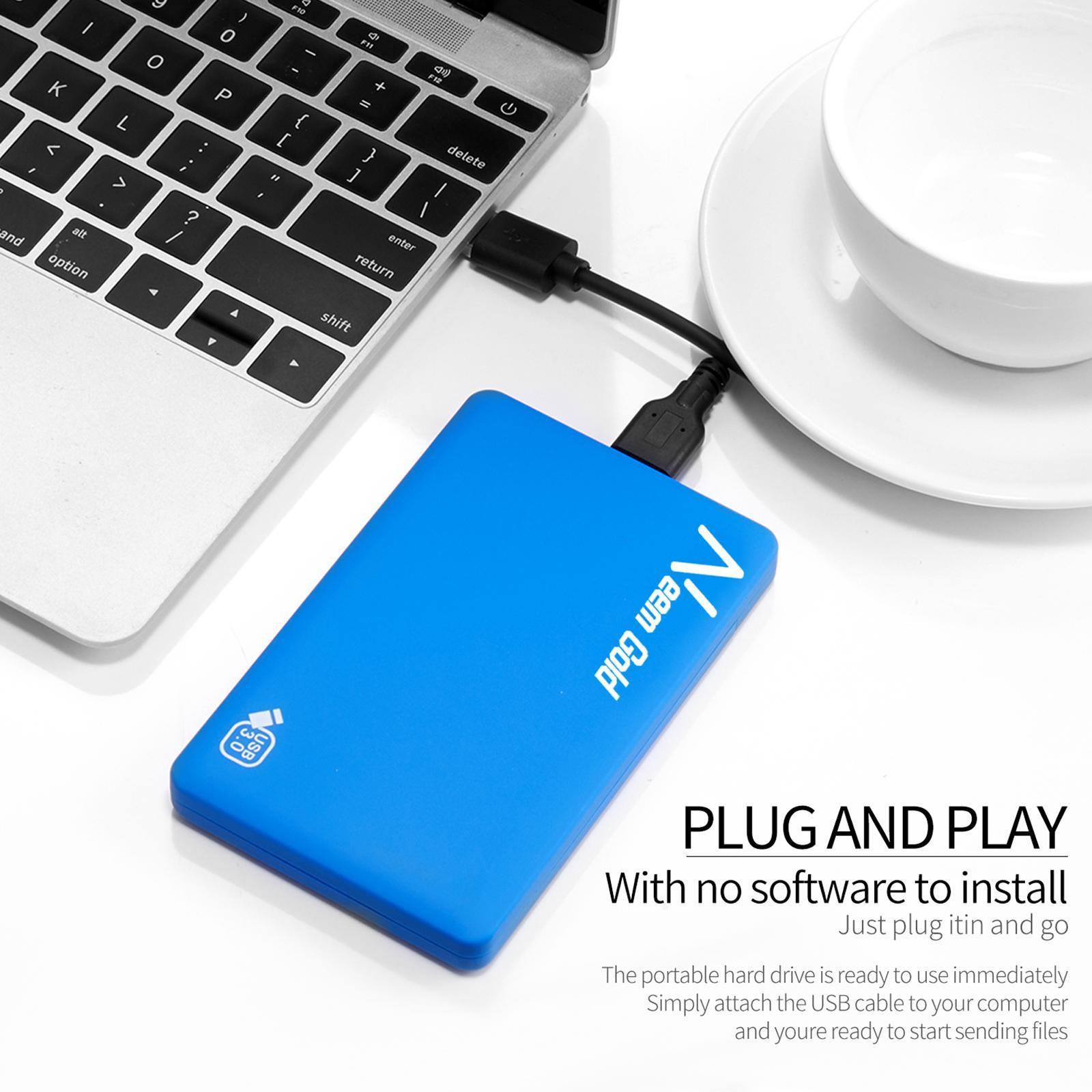 miniature 27 - ABS External Portable USB 3.0 Hard Drive Disk HDD for Desktop Laptop New