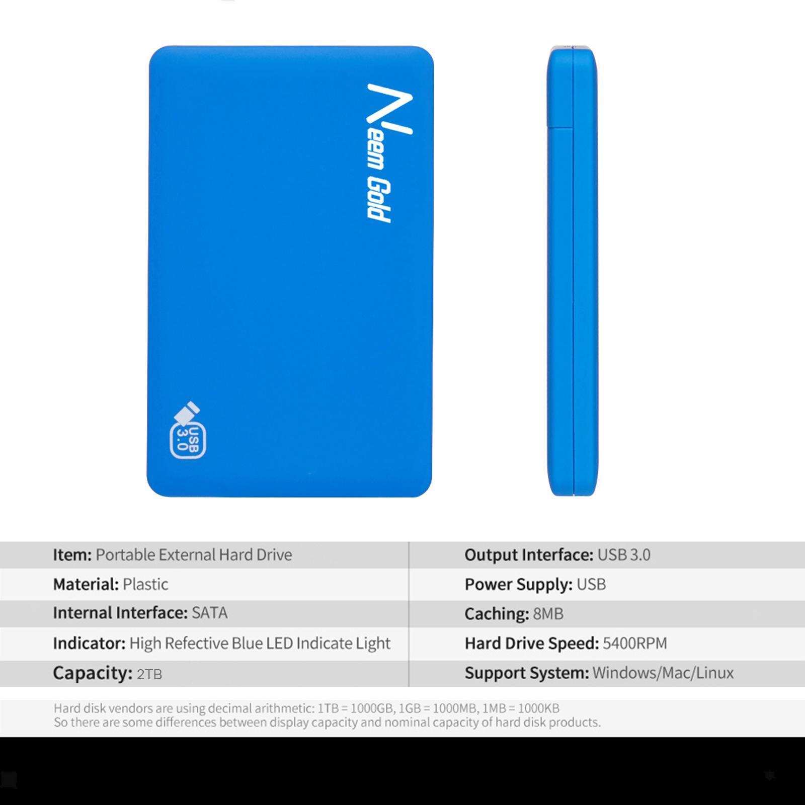 miniature 28 - ABS External Portable USB 3.0 Hard Drive Disk HDD for Desktop Laptop New