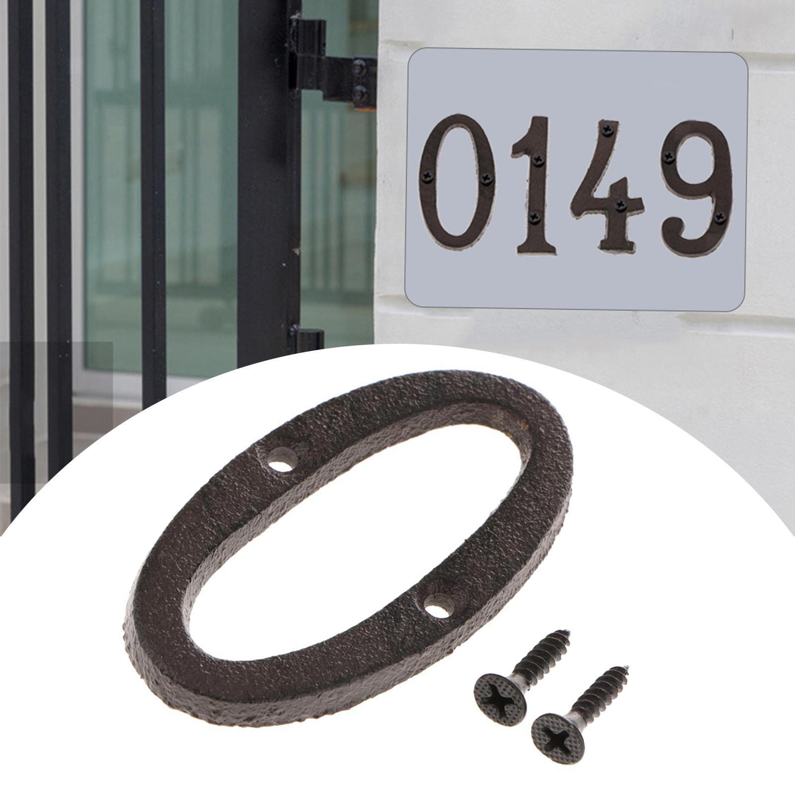 Digit Door Sign Plaque DIY Letter Figure for House Door Ornament Number 3