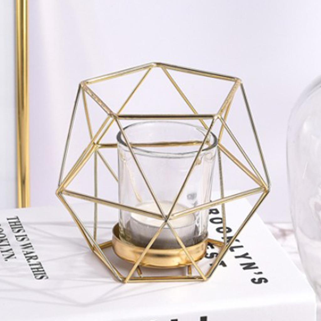Lovoski-Wedding-Wire-3D-Geometric-Tealight-Candle-Holder-Candelabra-Candlestick thumbnail 13