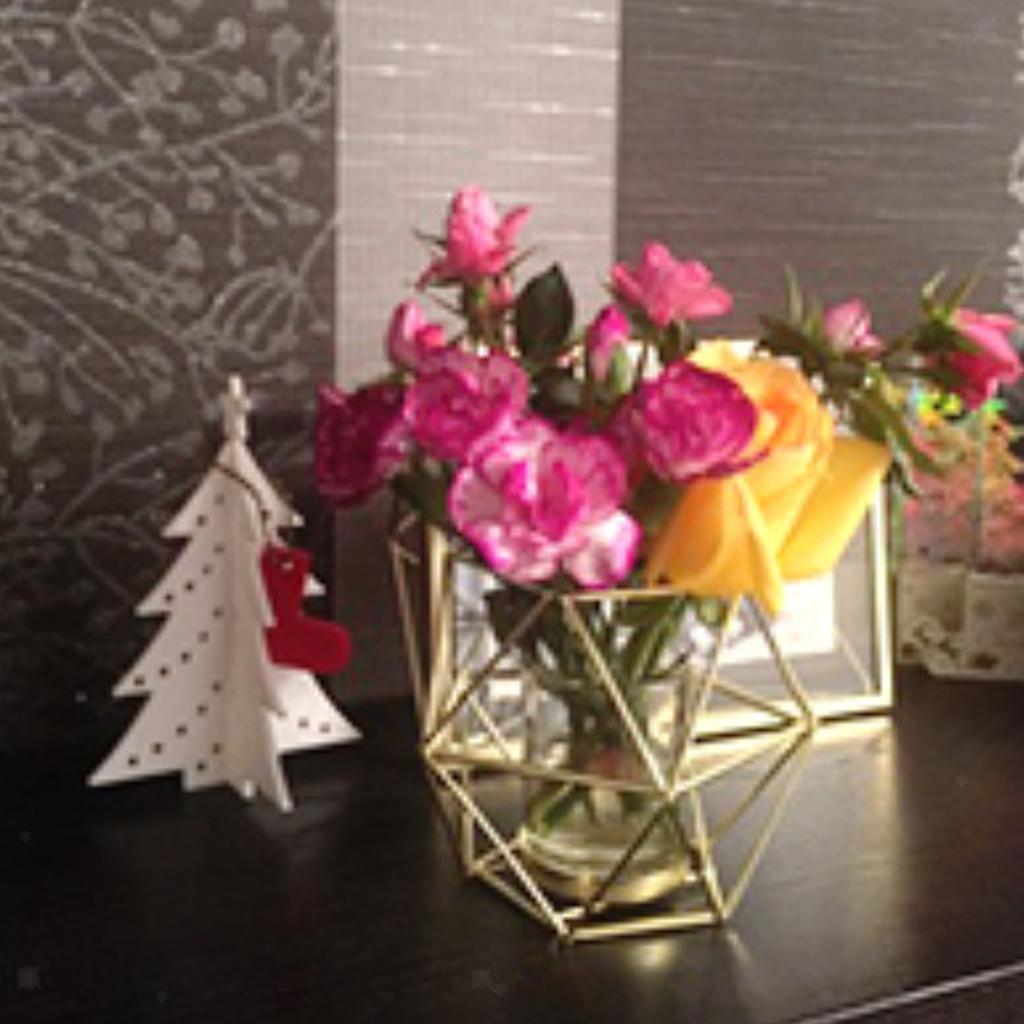 Lovoski-Wedding-Wire-3D-Geometric-Tealight-Candle-Holder-Candelabra-Candlestick thumbnail 7