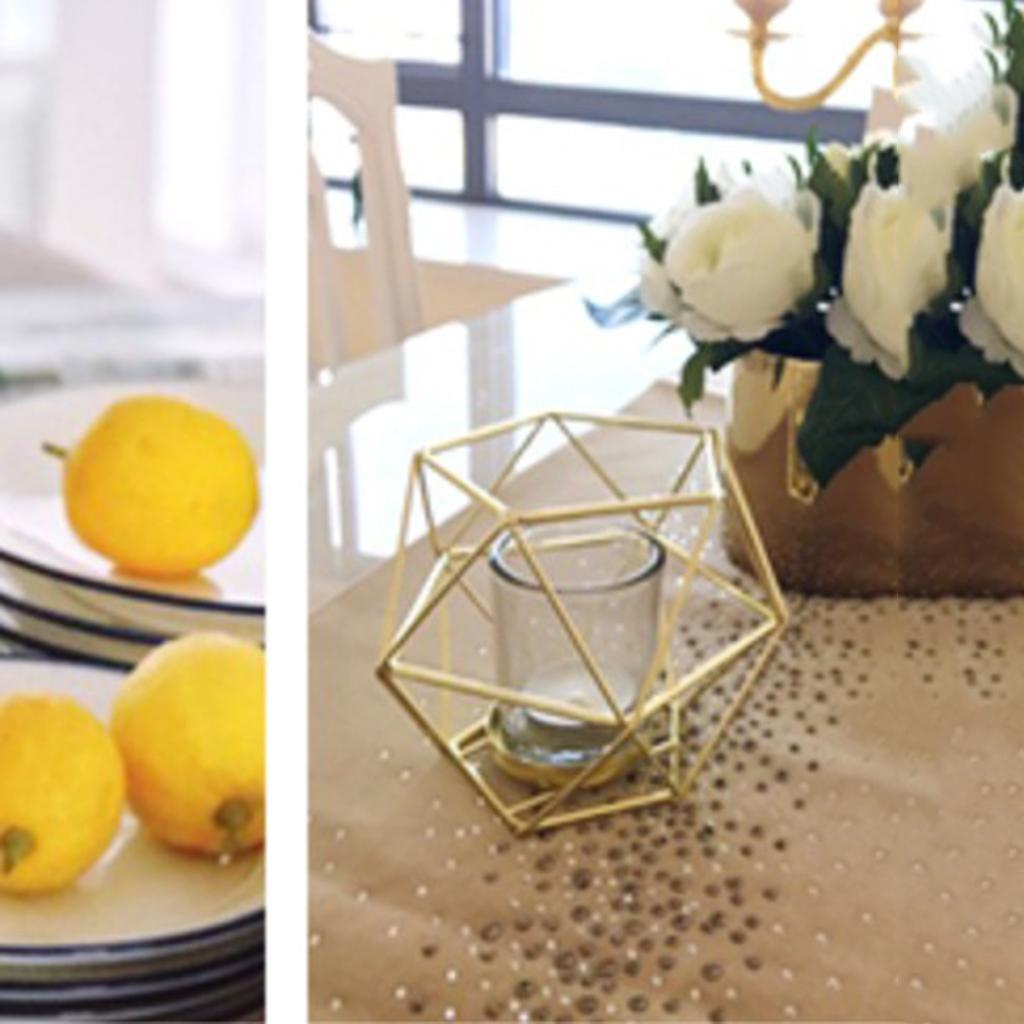 Geometric-Candle-Holder-Iron-Wire-Pillar-Stand-Decor-Centerpieces-Candlestick thumbnail 3