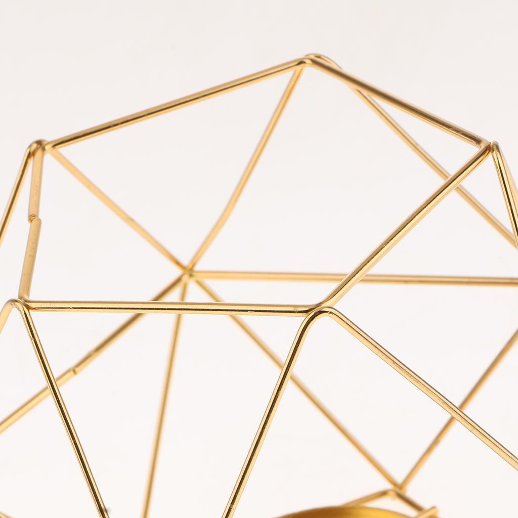 Lovoski-Wedding-Wire-3D-Geometric-Tealight-Candle-Holder-Candelabra-Candlestick thumbnail 12