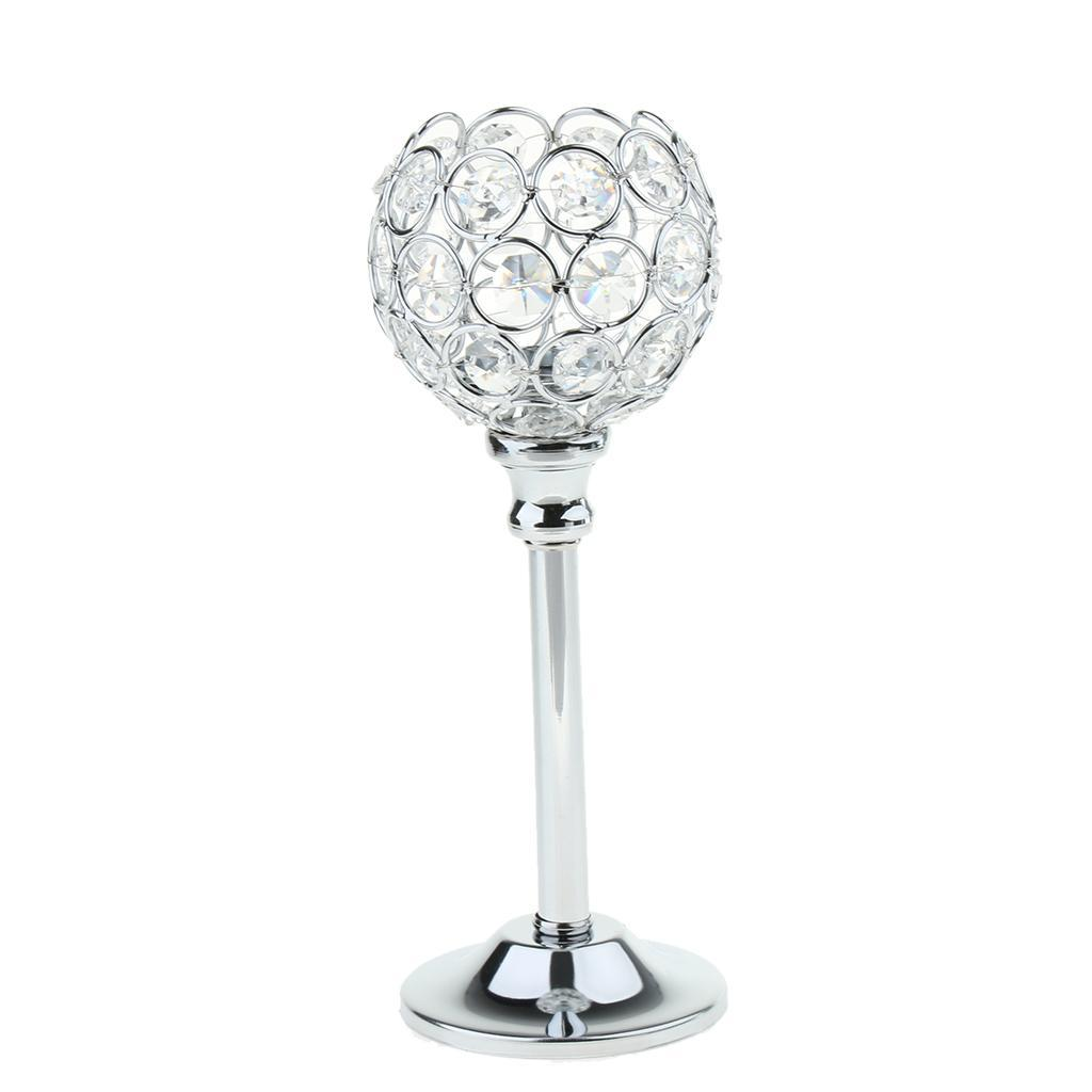 CRYSTAL-TABLE-STAND-CANDLE-HOLDER-CANDLESTICK-WEDDING-HOLIDAYS-CHRISTMAS-EVENTS thumbnail 25