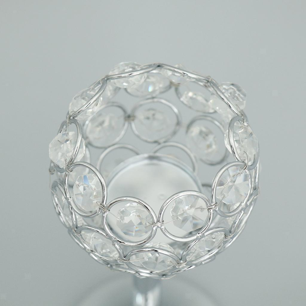 CRYSTAL-TABLE-STAND-CANDLE-HOLDER-CANDLESTICK-WEDDING-HOLIDAYS-CHRISTMAS-EVENTS thumbnail 27