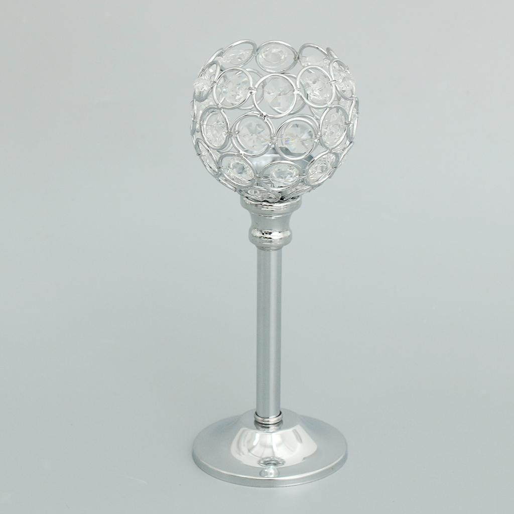 CRYSTAL-TABLE-STAND-CANDLE-HOLDER-CANDLESTICK-WEDDING-HOLIDAYS-CHRISTMAS-EVENTS thumbnail 20