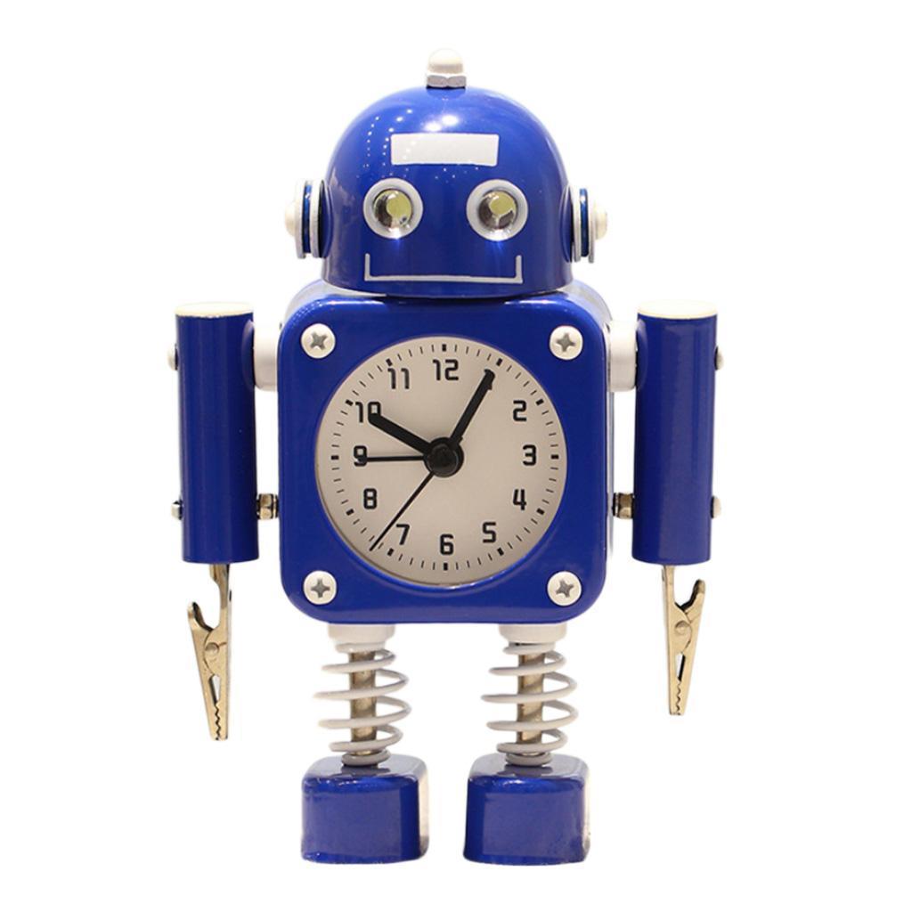 Robot-Del-Fumetto-Non-Ticchettio-Sveglia-Da-Comodino-Camera-Da-Letto-Di-Casa miniatura 7