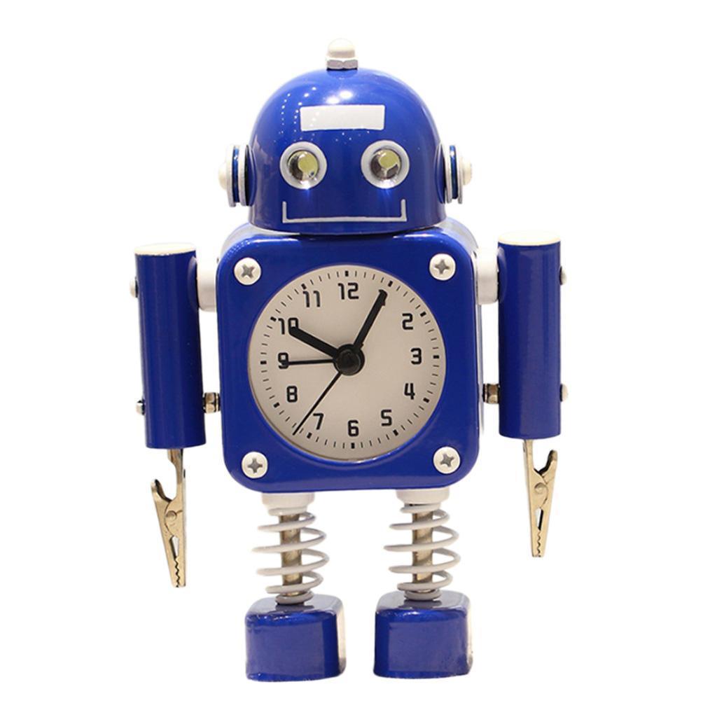 Robot-Del-Fumetto-Non-Ticchettio-Sveglia-Da-Comodino-Camera-Da-Letto-Di-Casa miniatura 6