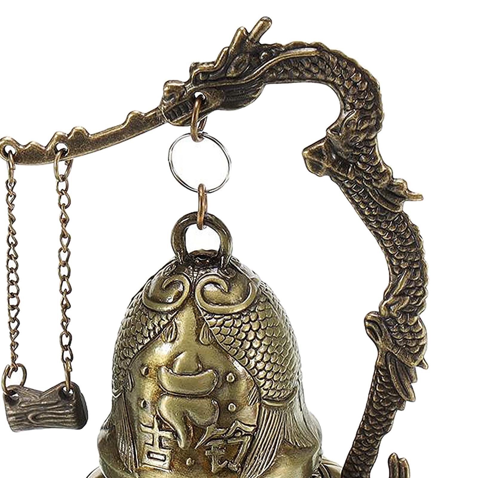 miniatura 50 - Buddha Drago Fengshui campana giocattoli tibetano per Home GIARDINO