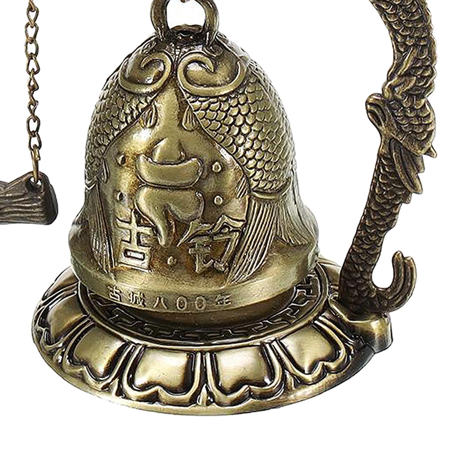 miniatura 46 - Buddha Drago Fengshui campana giocattoli tibetano per Home GIARDINO