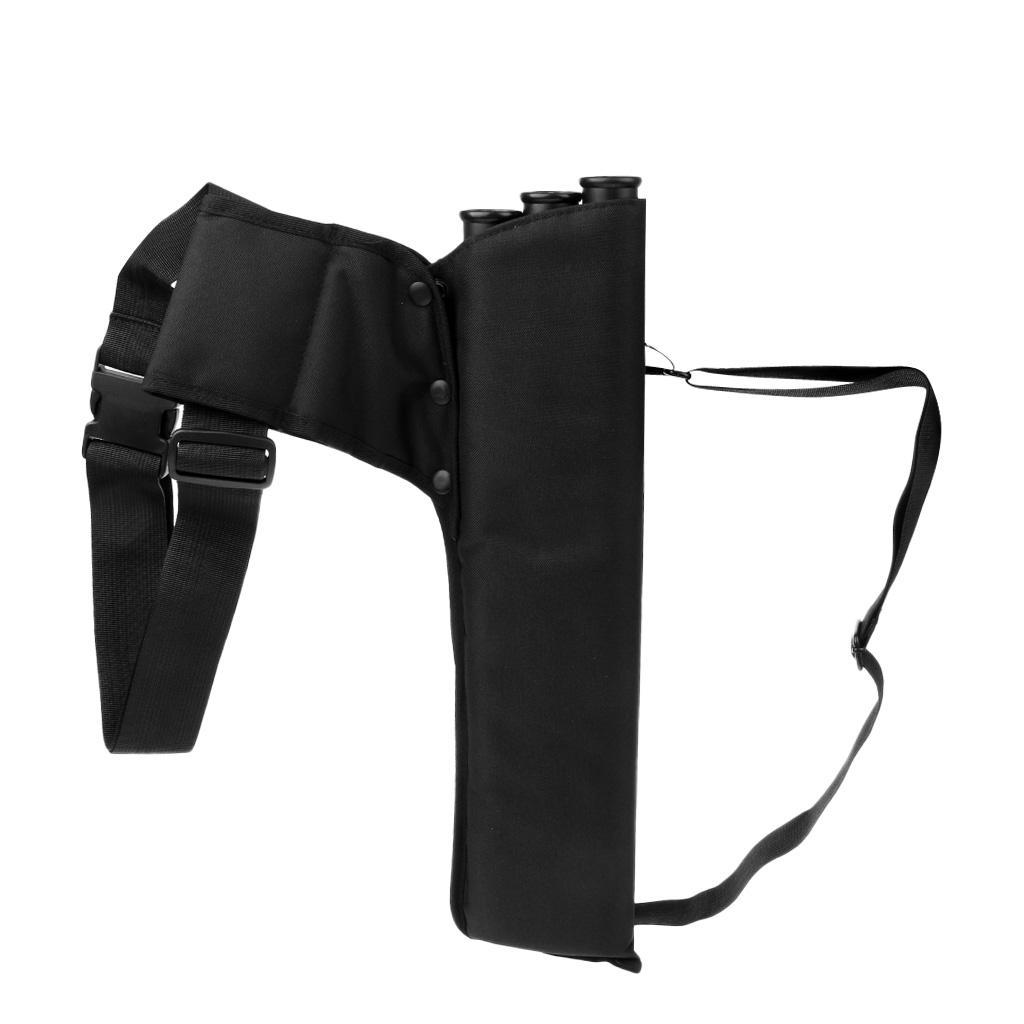 thumbnail 4 - Outdoor-Archery-Bow-Arrow-Holder-Bag-Waist-Belt-Back-Quiver-3-Tubes-for-Hunting