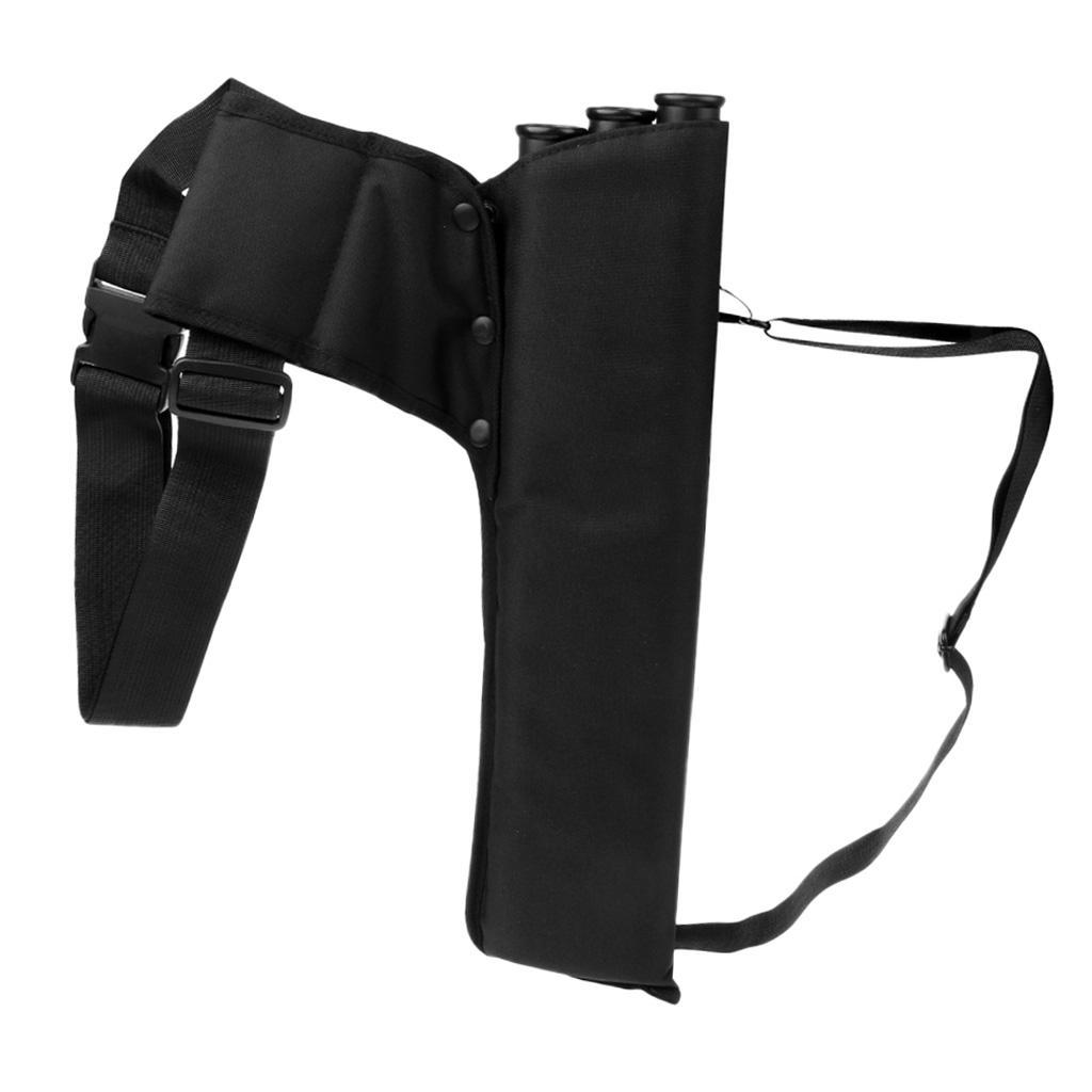 thumbnail 3 - Outdoor-Archery-Bow-Arrow-Holder-Bag-Waist-Belt-Back-Quiver-3-Tubes-for-Hunting