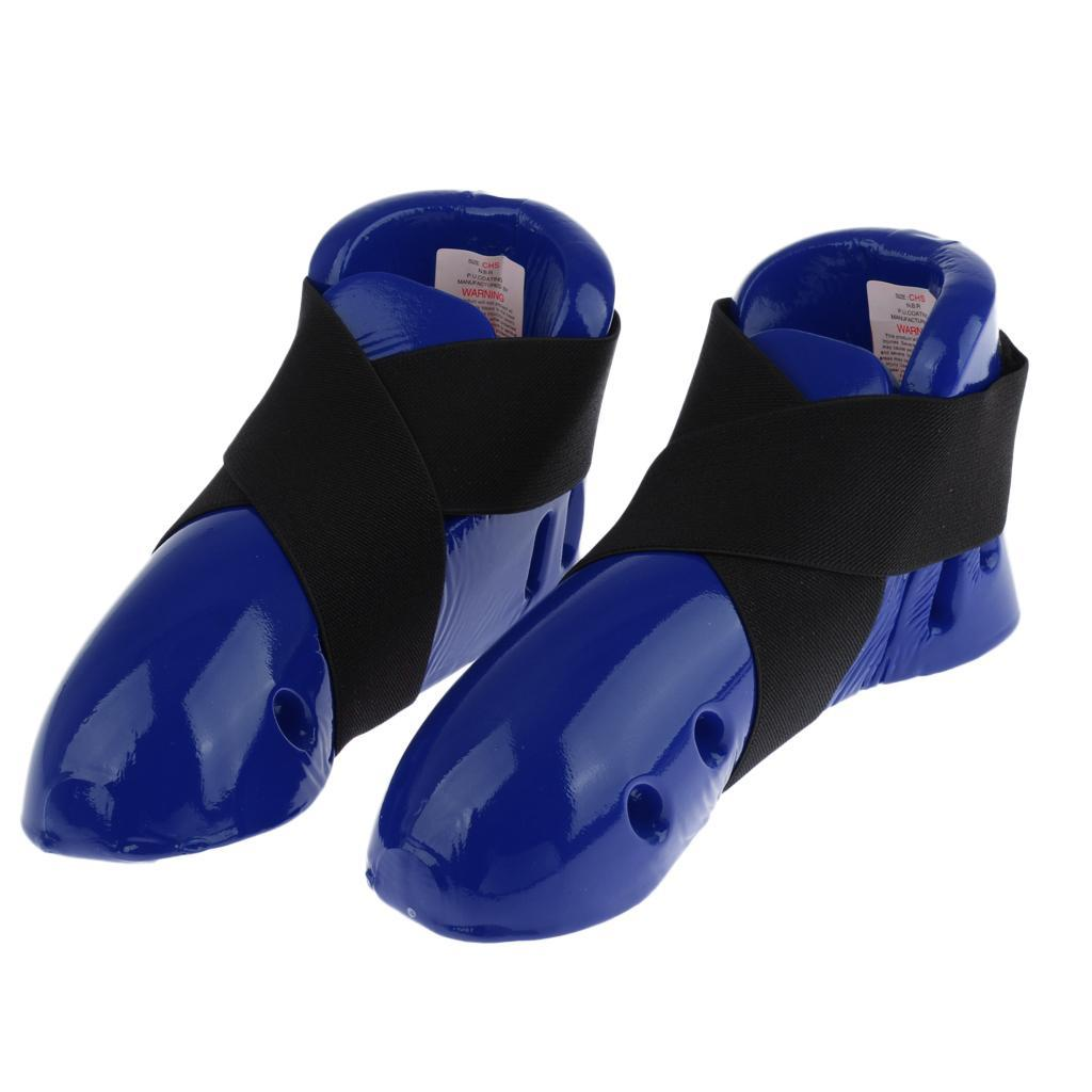 Indexbild 4 - Foam Pad Kids Taekwondo Fußschutz Karate Sparring Feet Protector Footgear