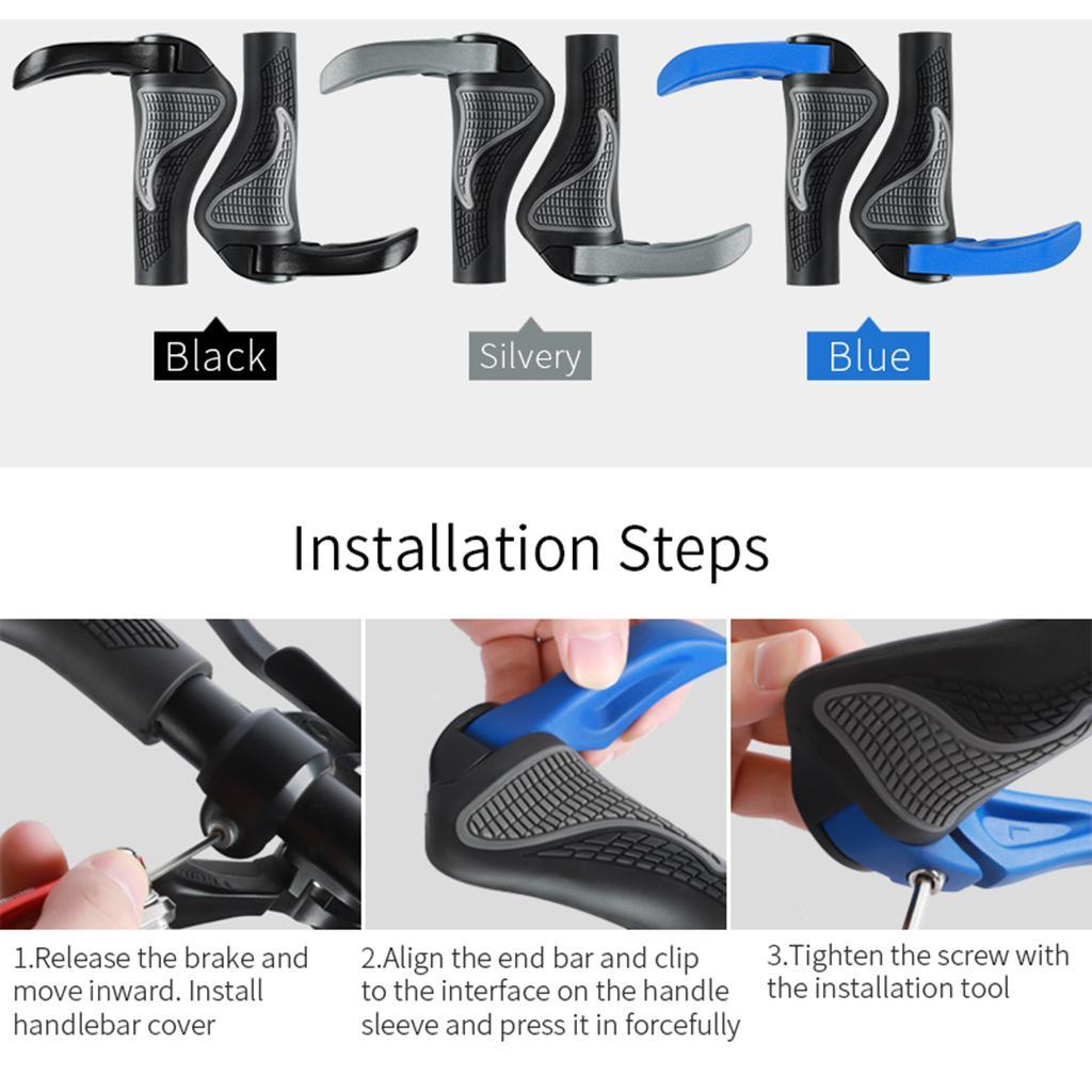 Bike MTB Grips Fixie Lock-on Fixed Gear Rubber Handlebar Grip 22.2mm Yellow
