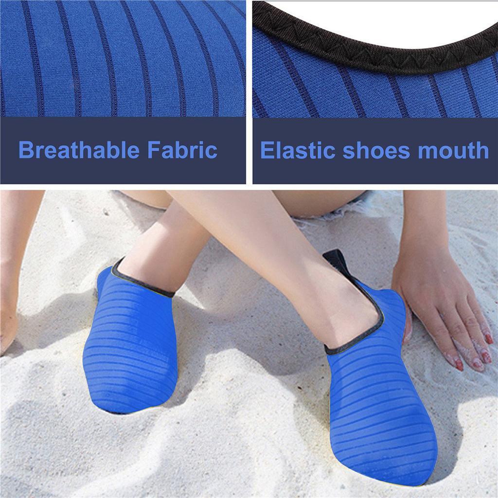 Anti-skid Women Men Water Shoes Barefoot Aqua Socks Wetsuit Swim Beach Blue