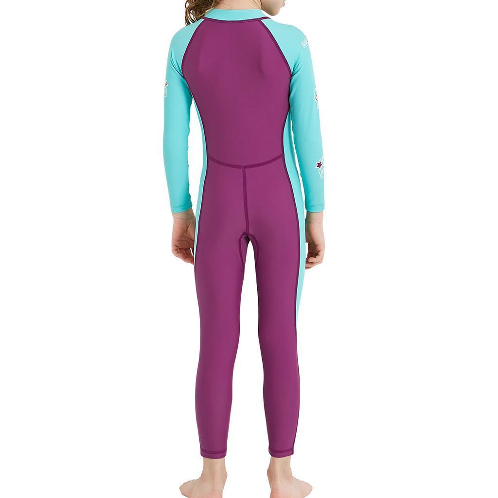 Children-Long-Sleeve-Swimsuit-Sun-Protective-Swimwear-Diving-Zip-Wetsuits thumbnail 13