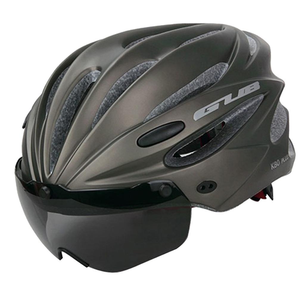 MTB Road Bike Helmet Bicycle Triathlon Sport Cycling Helmet W// UV Goggles Visor