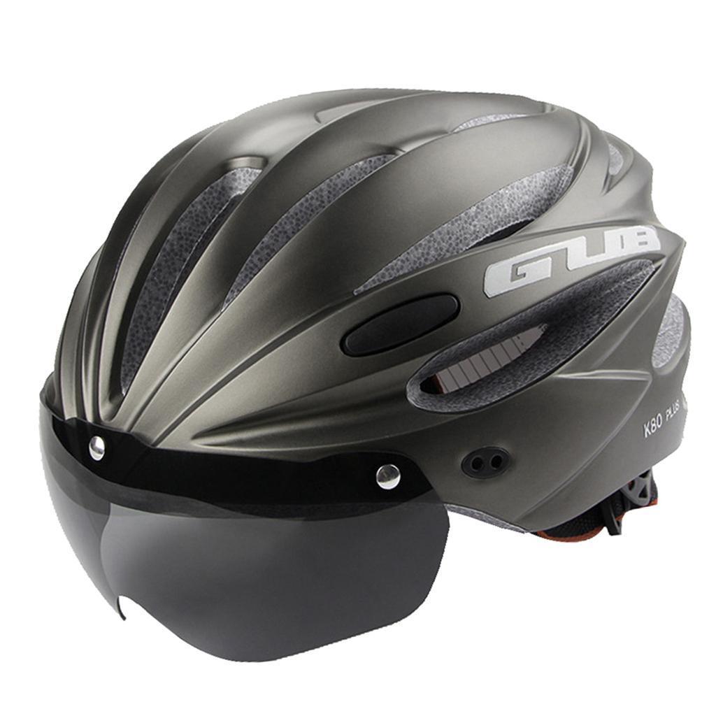 Indexbild 7 - Erwachsene-Fahrradhelm-MTB-Mountainbike-Helm-mit-Visier-Scooter-Helm-Radhelm