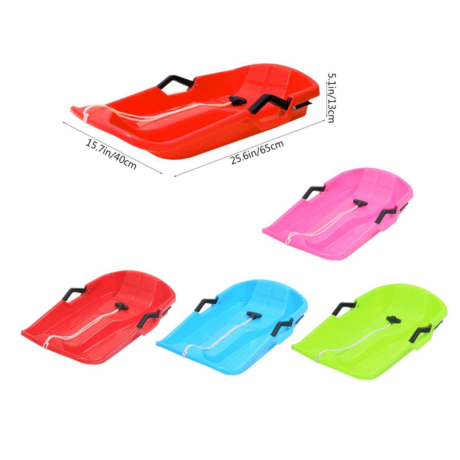 thumbnail 3 - Large Kids Adults Snow Sledge Sleigh Sled Toboggan Pull Rope Downhill Board