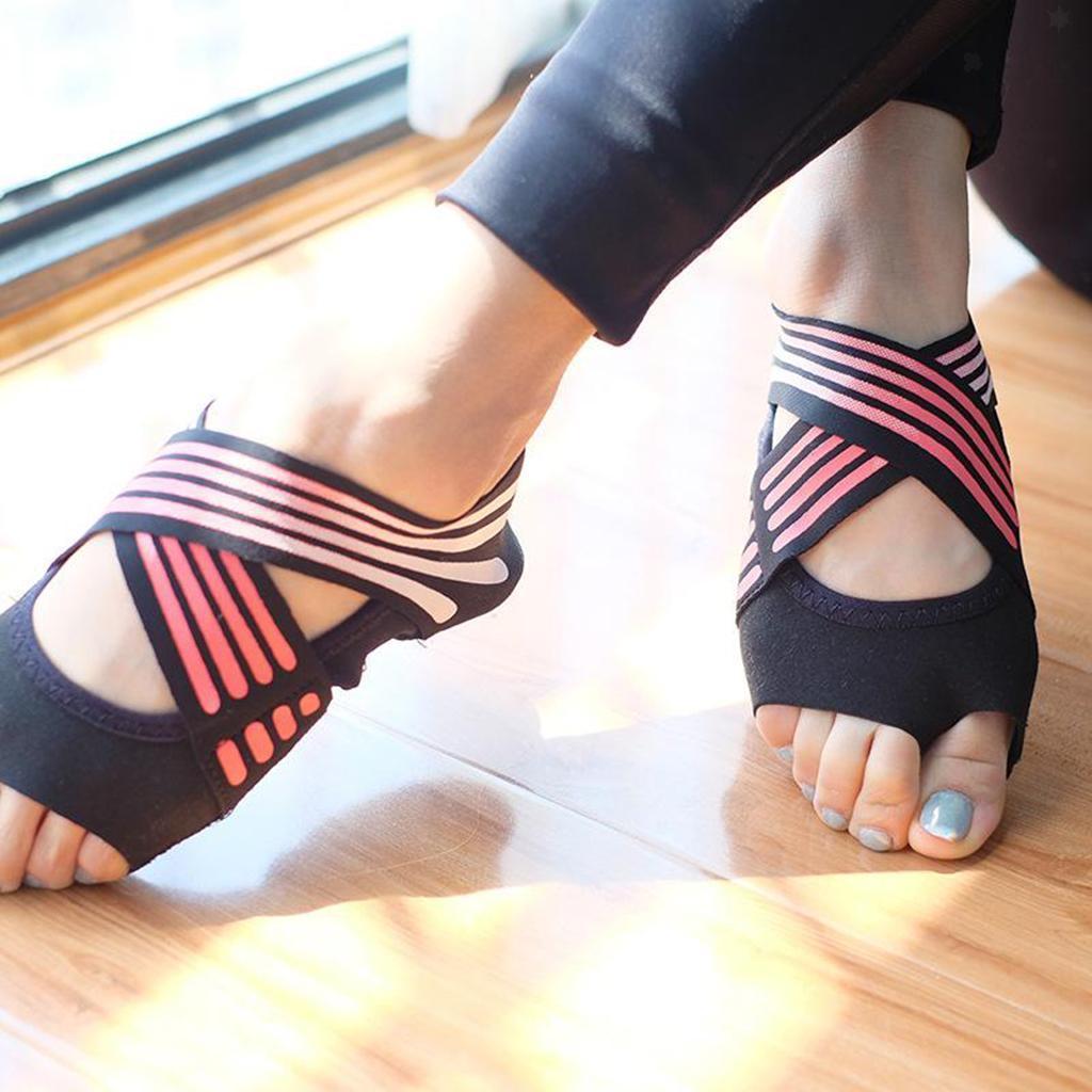 miniatura 23 - 1 Pair Delle Donne di Ballo di Formazione di Yoga Pilates Grip Calzini