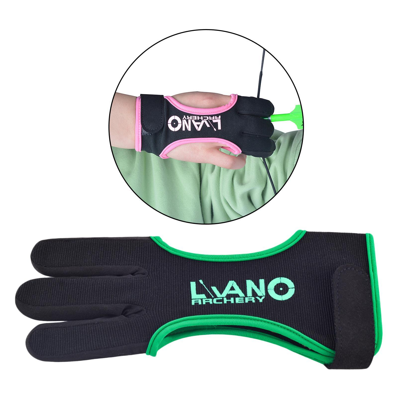 thumbnail 71 - Archery Glove for Recurve & Compound Bow 3 Finger Guard for Women Men Youth