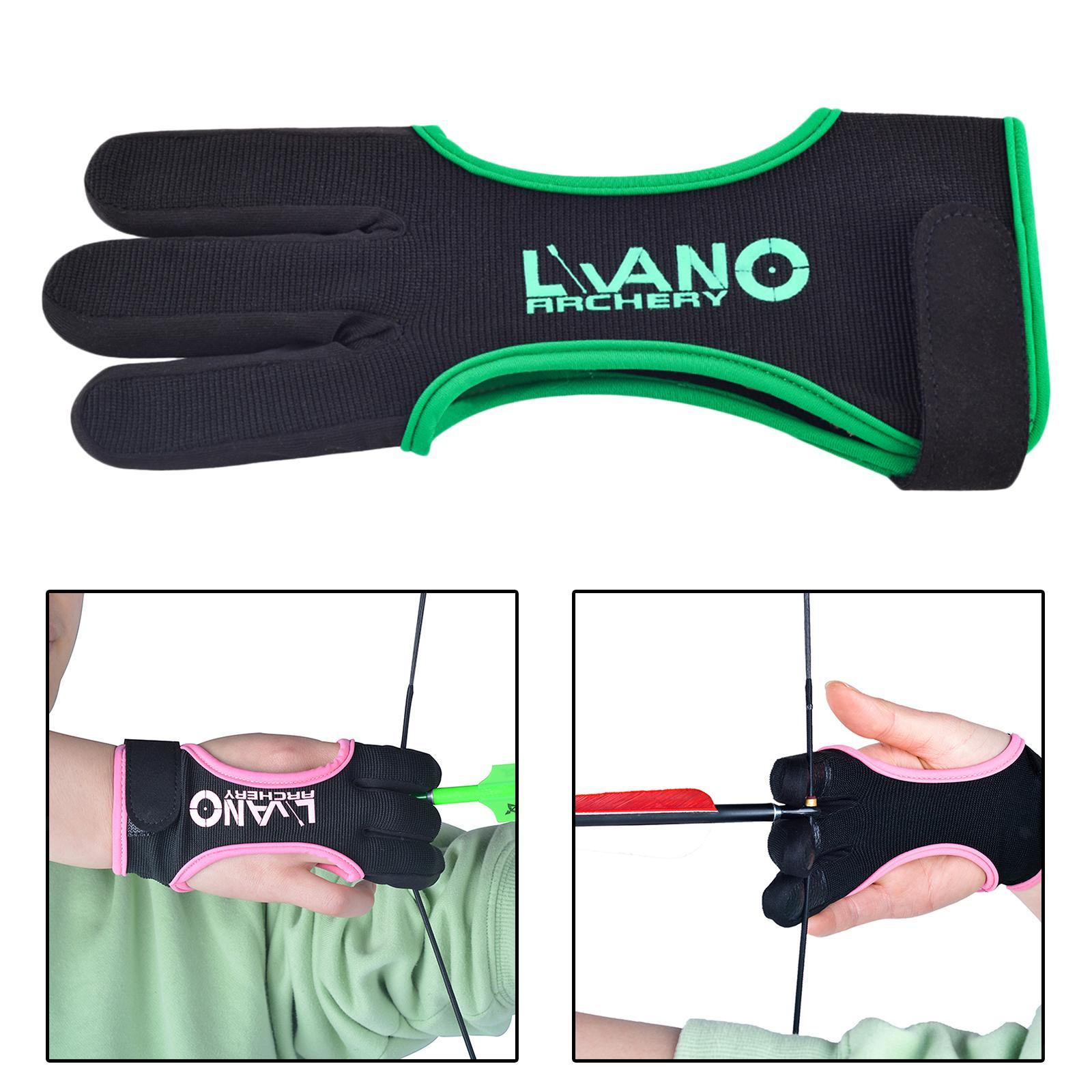 thumbnail 17 - Archery Glove for Recurve Compound Bow 3Finger Leather Guard for Women Men Youth