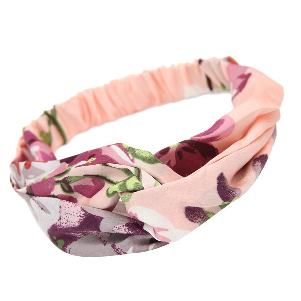 miniatura 8 - Donna Floreale Twisted Knotted Fascia Capelli Head Wrap Turband, Idea Regalo