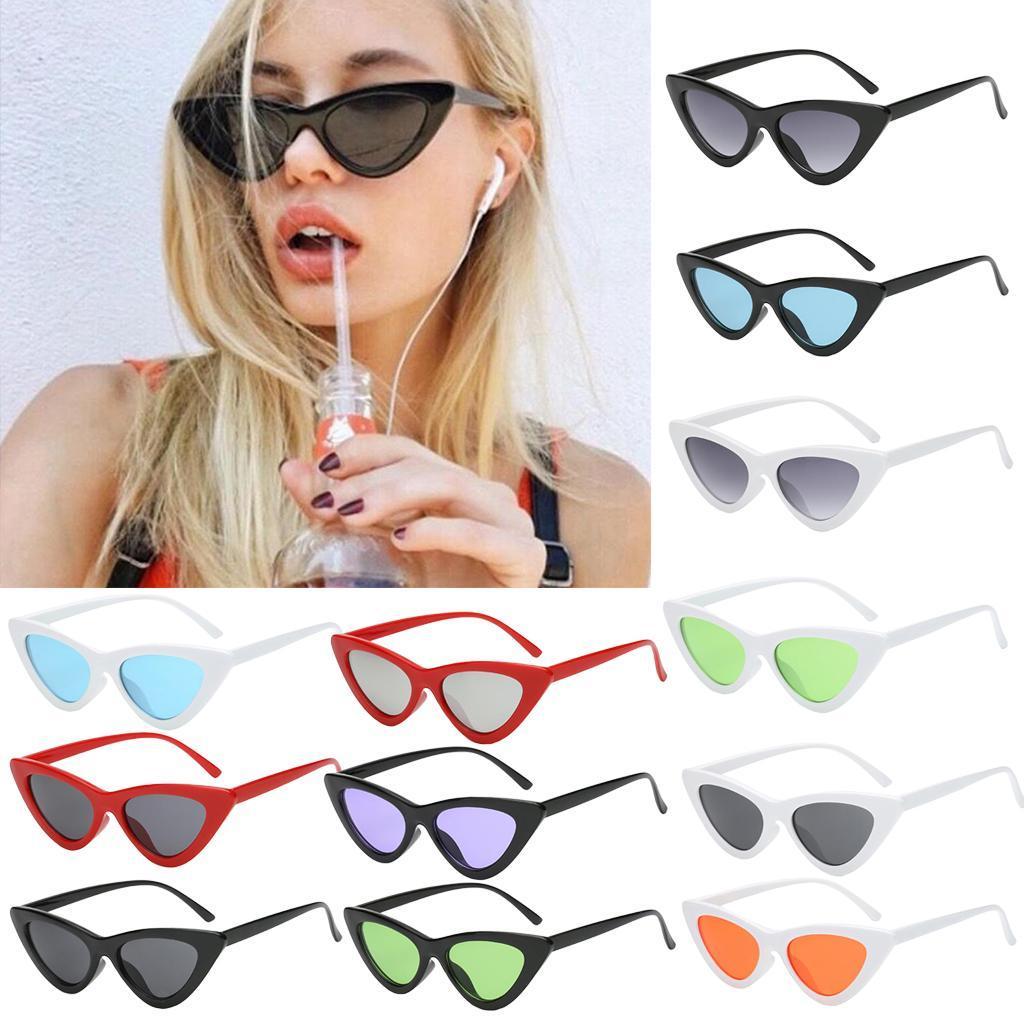 2er-Pack-Frauen-Vintage-Dreieck-Verspiegelte-Sonnenbrille-Brillen-Designer Indexbild 7