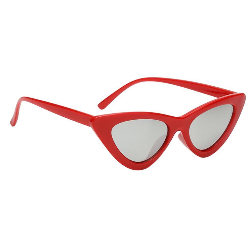 2er-Pack-Frauen-Vintage-Dreieck-Verspiegelte-Sonnenbrille-Brillen-Designer Indexbild 6