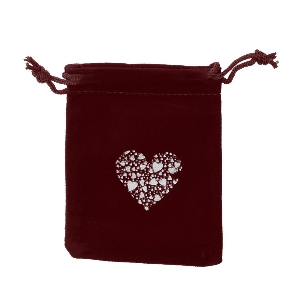 10pcs-Love-Coeur-Velours-Cordon-Sachets-Bijoux-Sacs-Pochettes-Cadeau-Mariage-Favor miniature 7