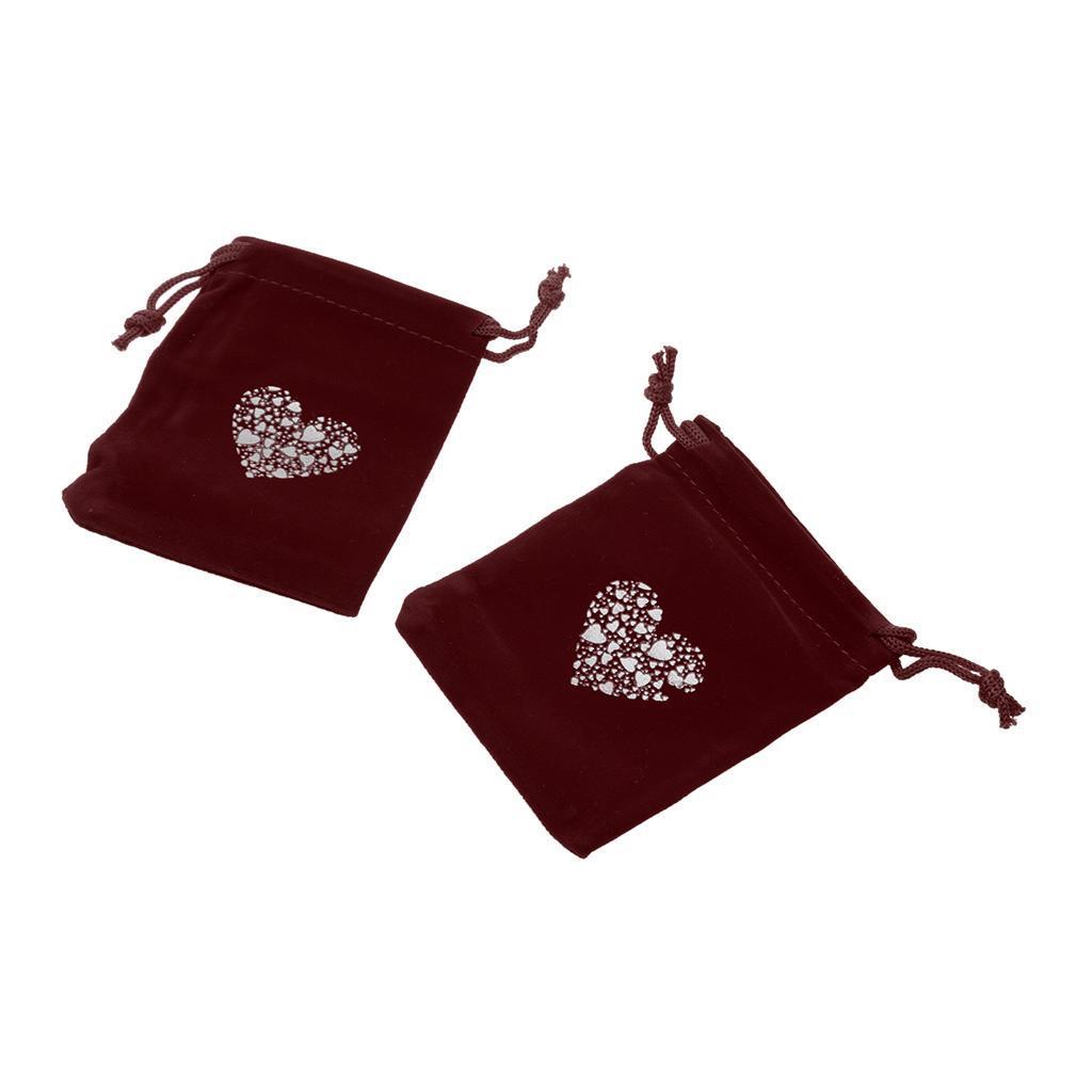 10pcs-Love-Coeur-Velours-Cordon-Sachets-Bijoux-Sacs-Pochettes-Cadeau-Mariage-Favor miniature 9