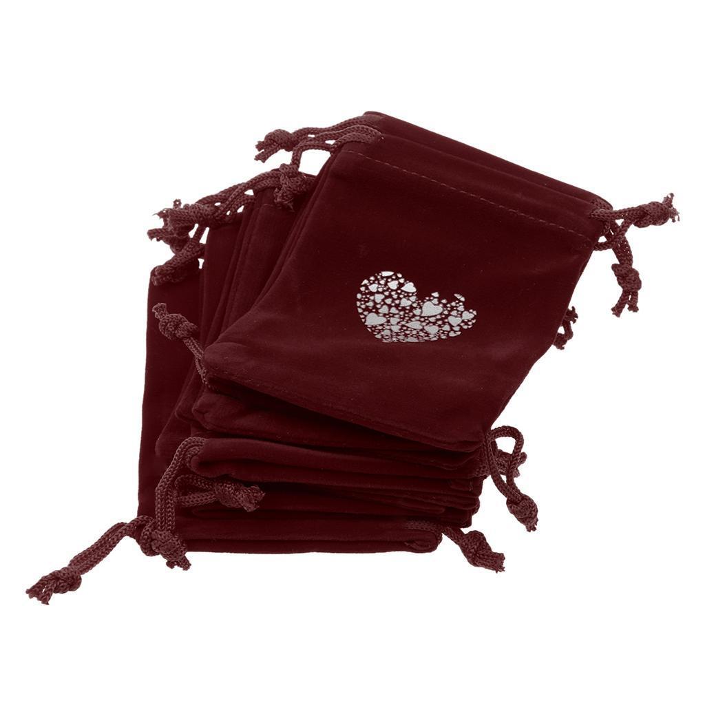 10pcs-Love-Coeur-Velours-Cordon-Sachets-Bijoux-Sacs-Pochettes-Cadeau-Mariage-Favor miniature 8
