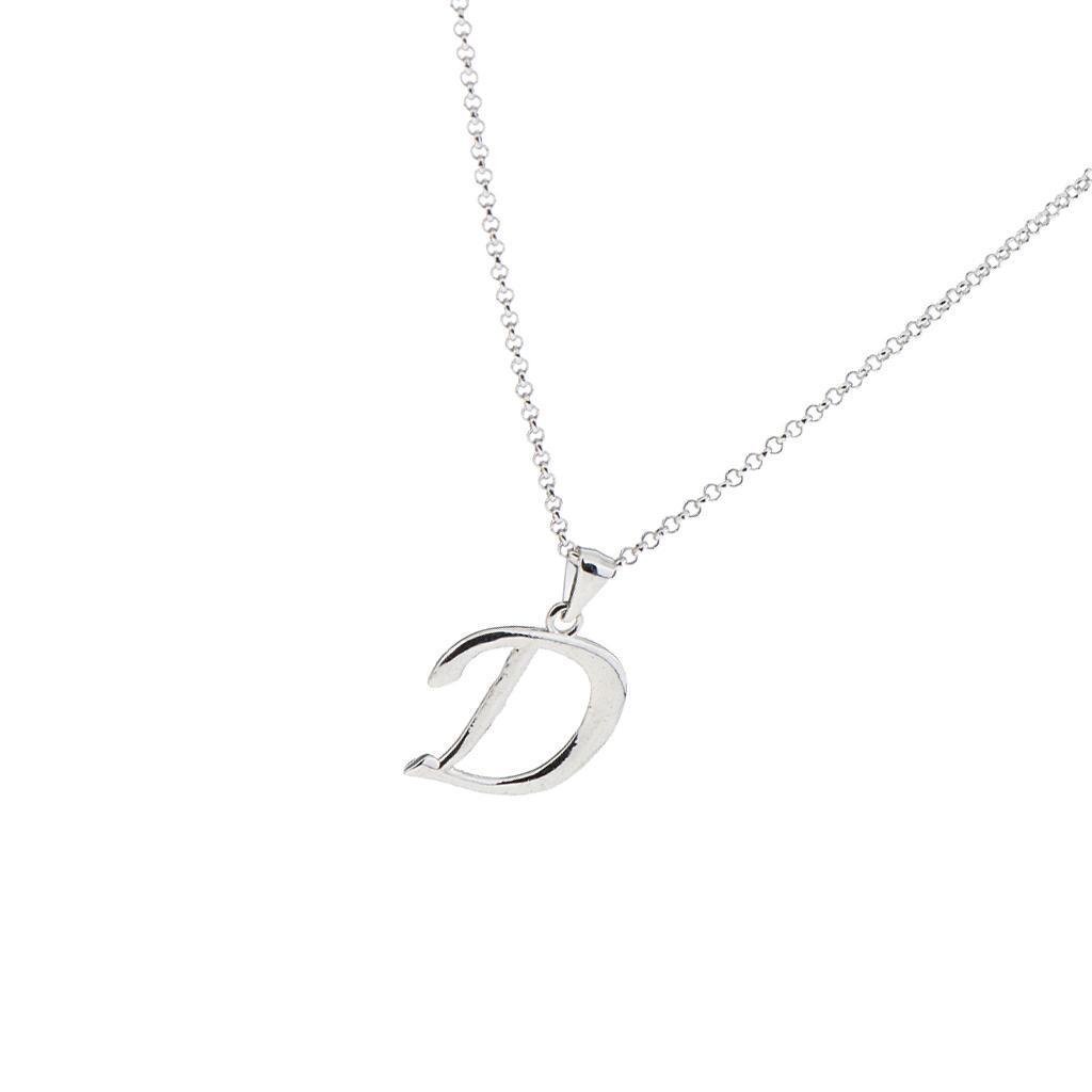A-Z-Alphabet-Initial-Letter-Pendant-Necklace-Chain-Choker-Jewelry-Men-Women thumbnail 14