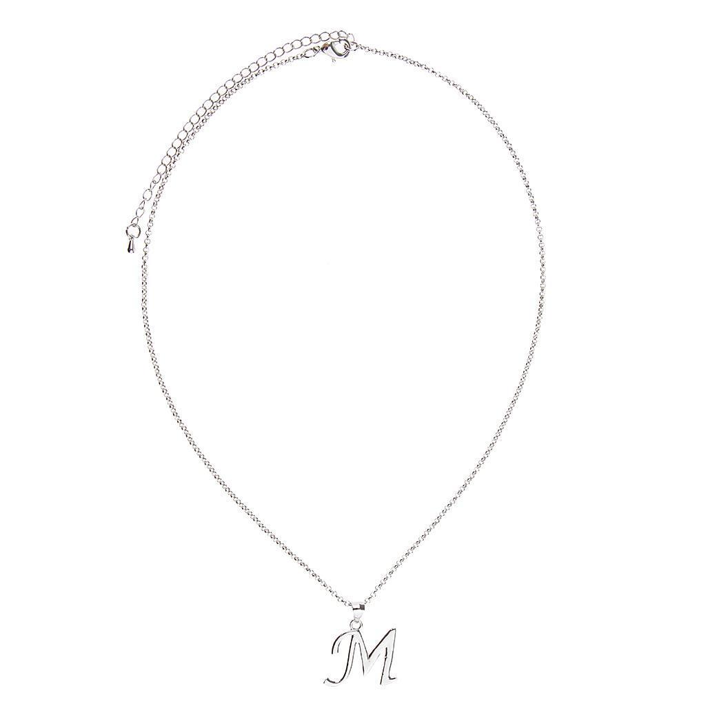 A-Z-Alphabet-Initial-Letter-Pendant-Necklace-Chain-Choker-Jewelry-Men-Women thumbnail 41