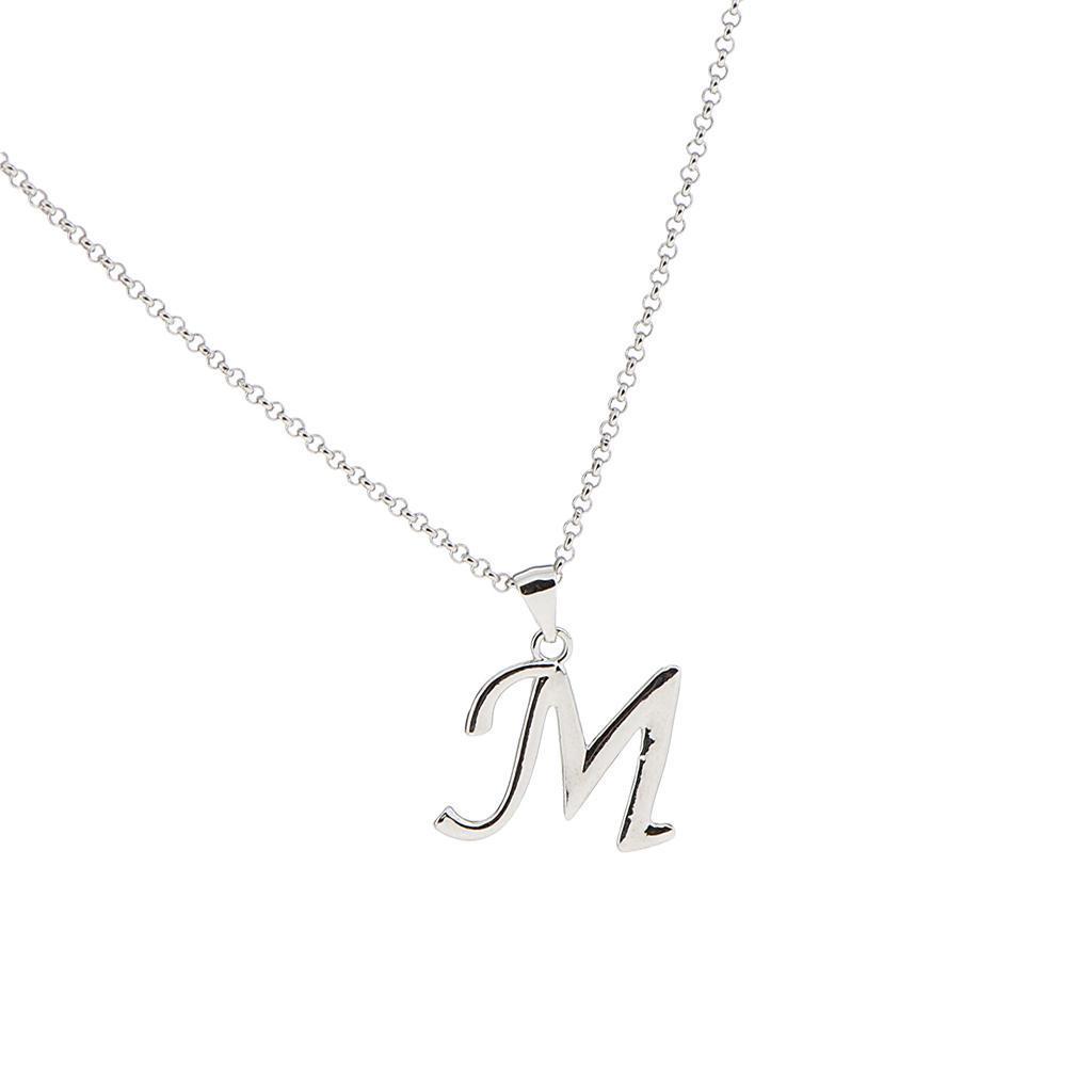 A-Z-Alphabet-Initial-Letter-Pendant-Necklace-Chain-Choker-Jewelry-Men-Women thumbnail 40