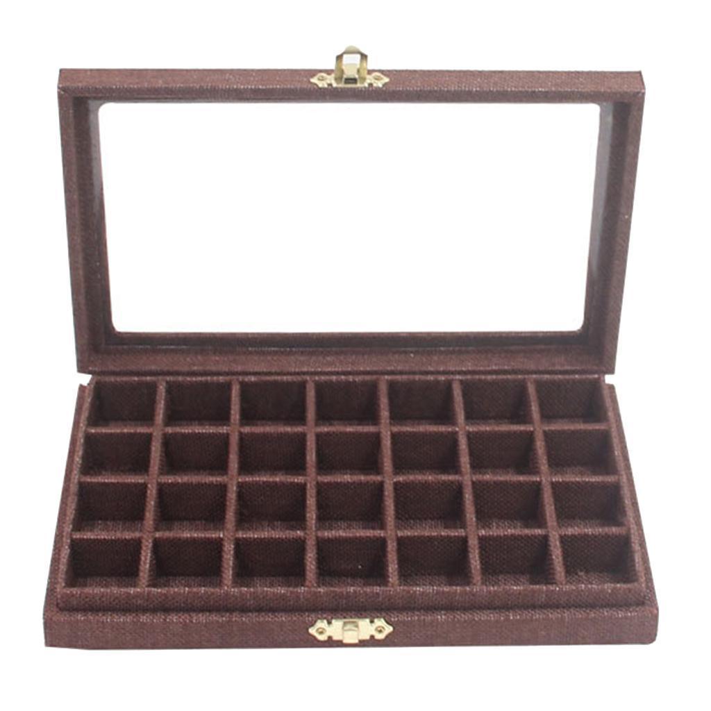 Plateau-a-Bijoux-en-Lin-Organisateur-de-Bijoux-Multifonctionnel-Excellent miniature 12