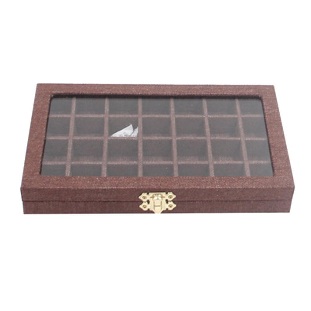 Plateau-a-Bijoux-en-Lin-Organisateur-de-Bijoux-Multifonctionnel-Excellent miniature 13