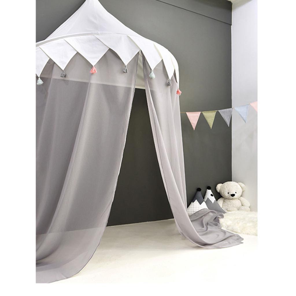 Bett Baldachin Moskitonetz für Kinder Baby Indoor Outdoor Spielen Lesen Gray