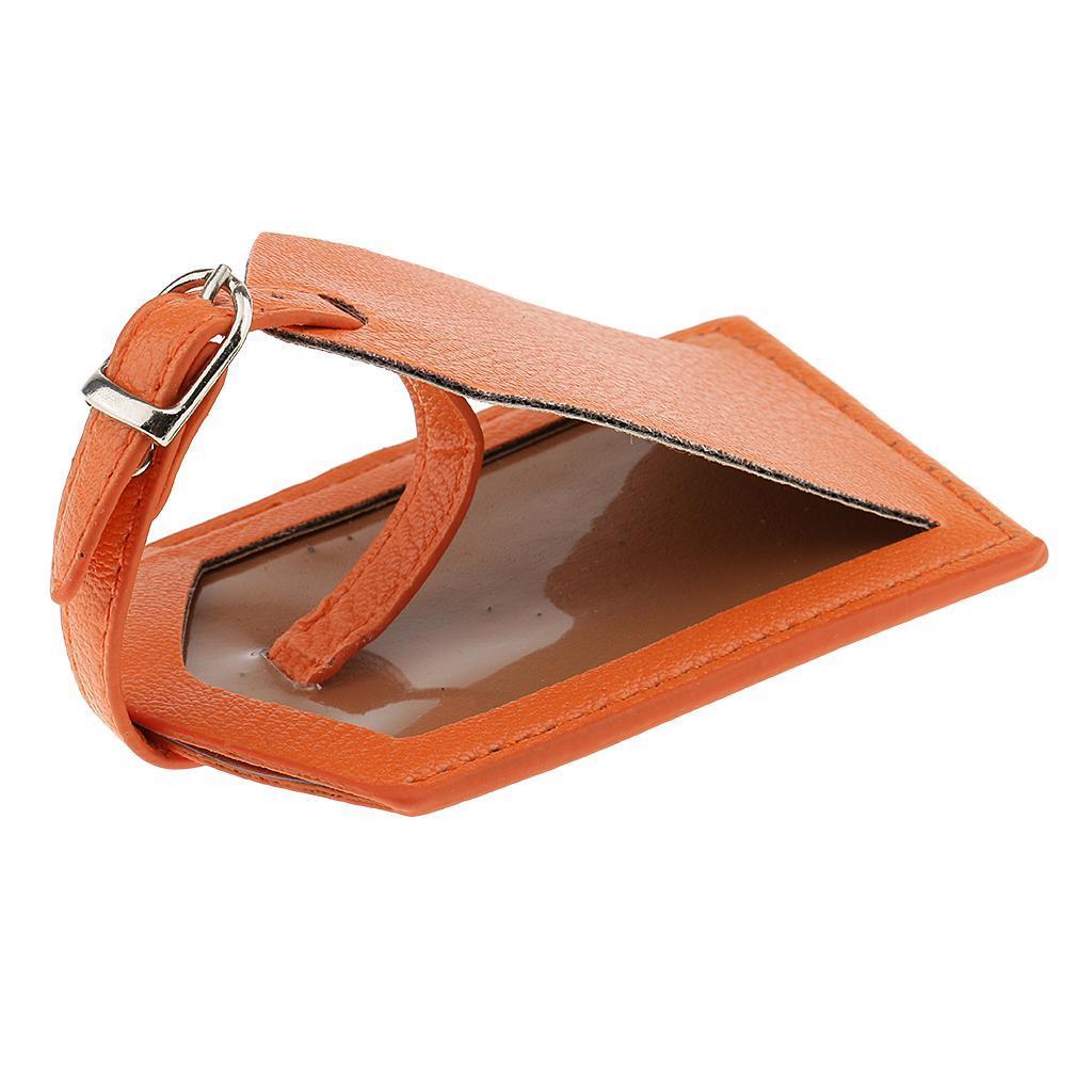 miniature 25 - Etiquette-De-Bagage-Valise-De-Voyage-En-PU-Cuir-D-039-identification