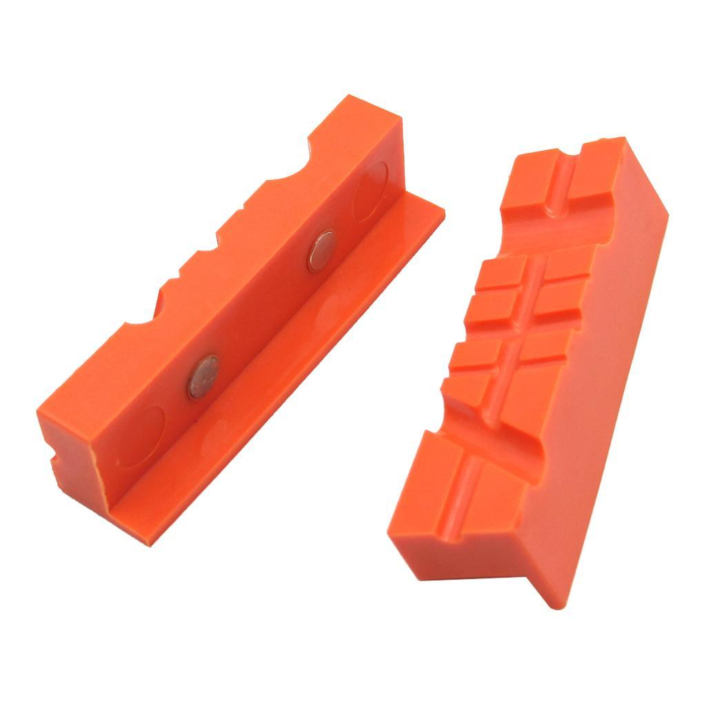 2pcs-Set-Magnetico-Morsa-Mascella-Pad-Covers-Protezioni-Multi-Scanalato-Morbido miniatura 12