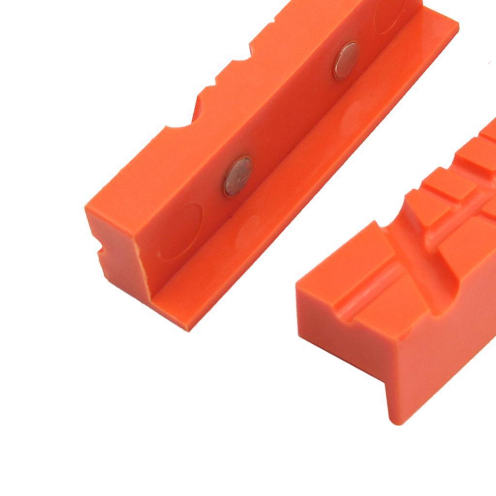 2pcs-Set-Magnetico-Morsa-Mascella-Pad-Covers-Protezioni-Multi-Scanalato-Morbido miniatura 16