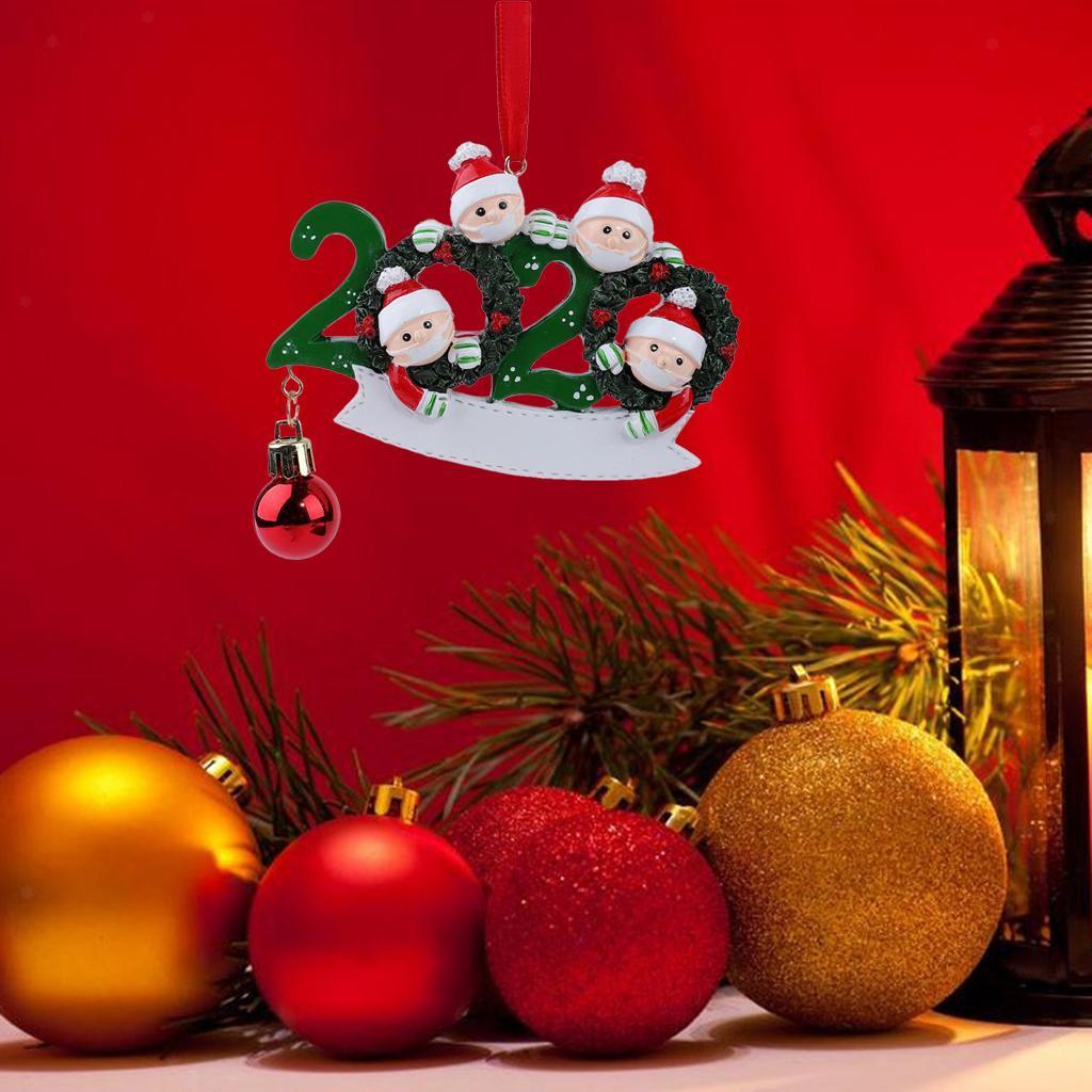 2020 Christmas Hanging Ornaments Quarantine Santa Claus Family Gifts DIY | eBay