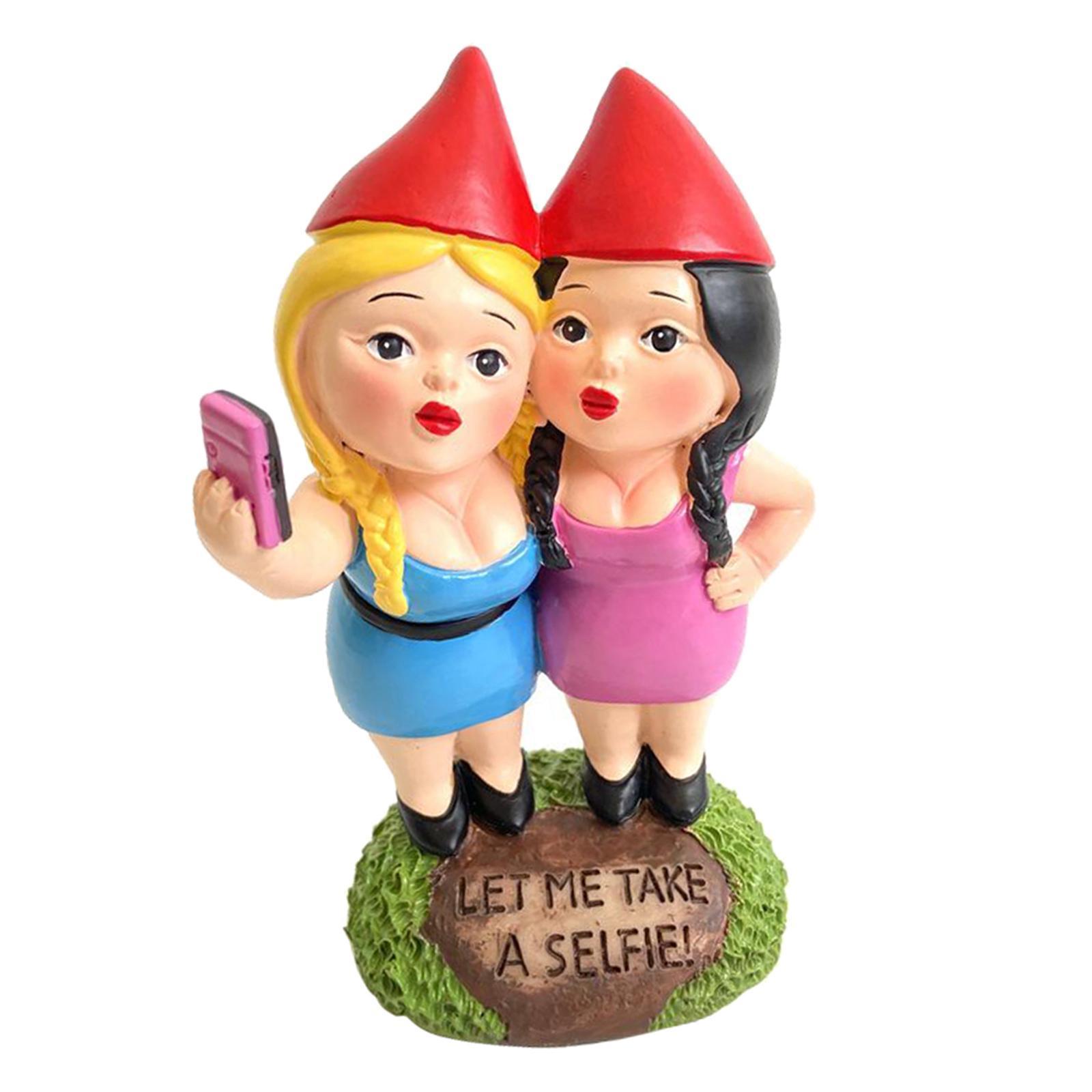 thumbnail 15 - Funny Resin Naughty Garden Gnome Statue Ornaments Outdoor Villa Home Figurines