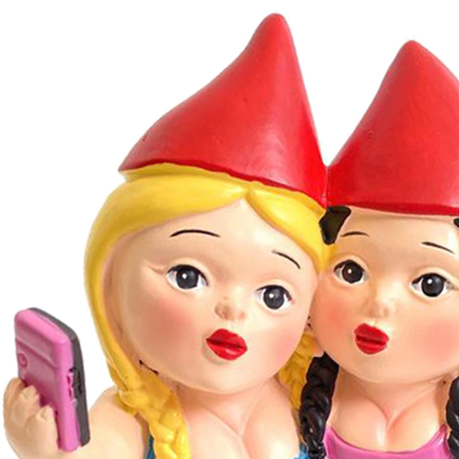 thumbnail 15 - Funny Resin Naughty Garden Gnome Statue Ornaments Villa Home Figurines Decor AU