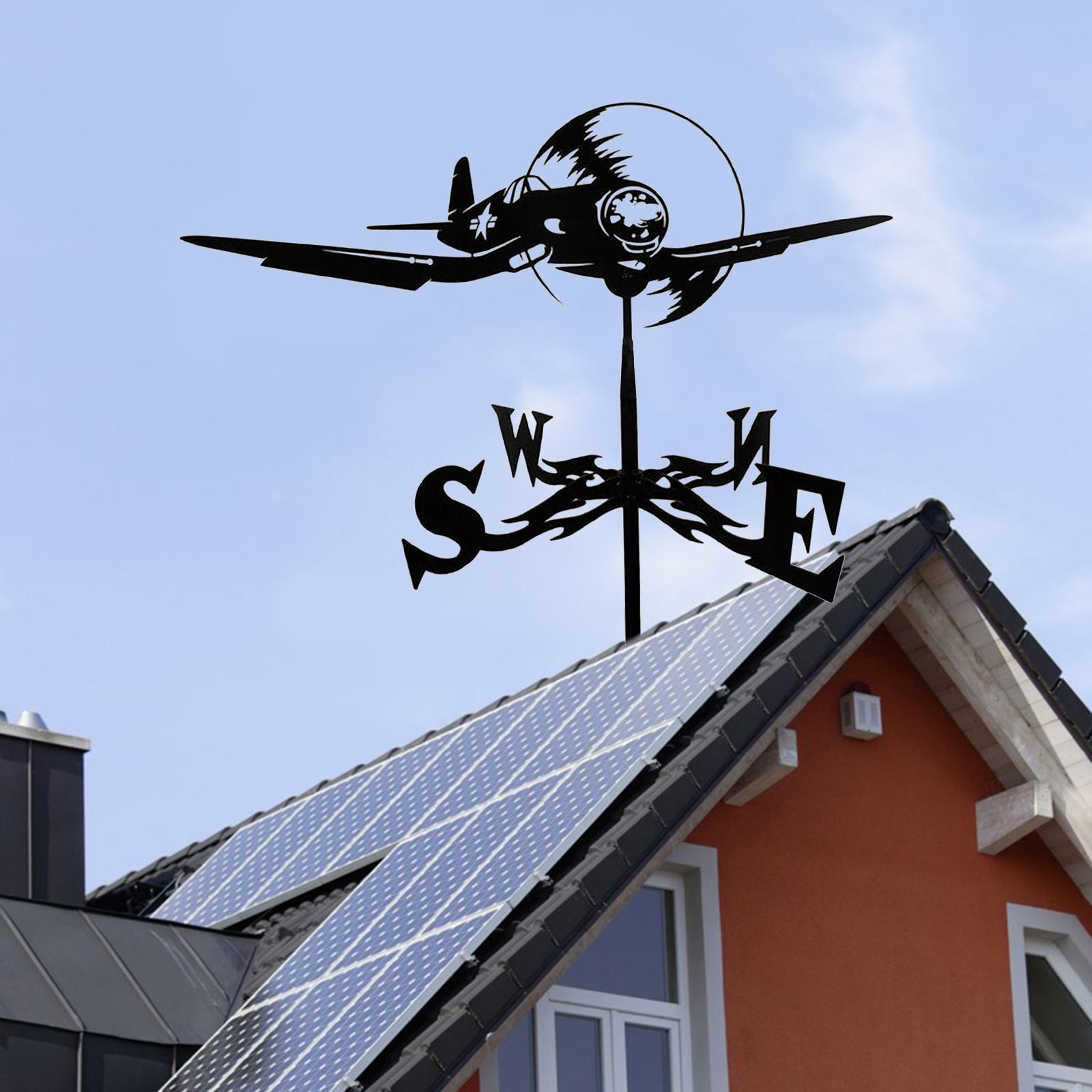 Iron Weather Vane Farm Black Yard Roof Metal Weathervane Cupolas Durable