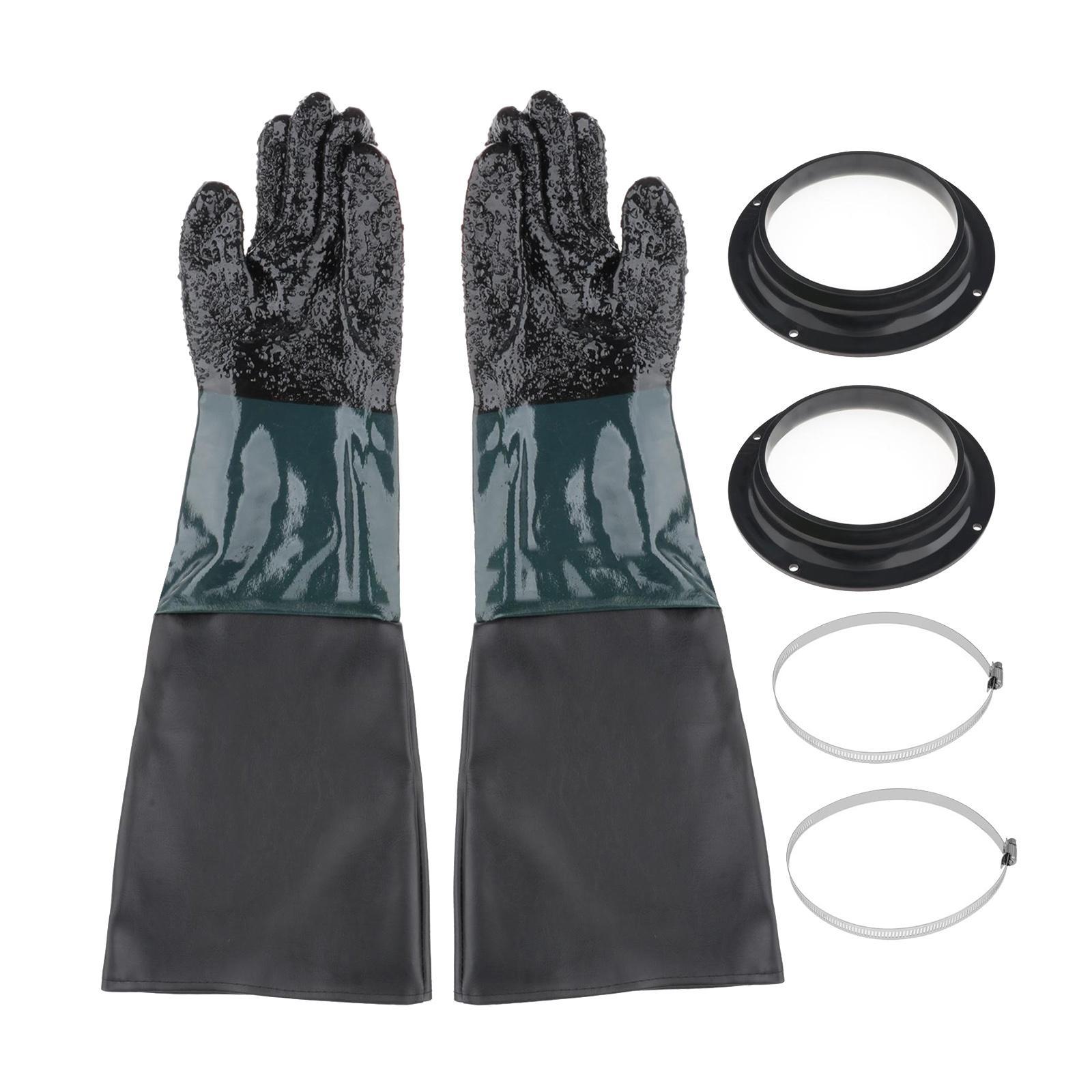 1 Pair of Heavy-duty Sandblasting Gloves for Sandblasting Sand Blast Cabinet